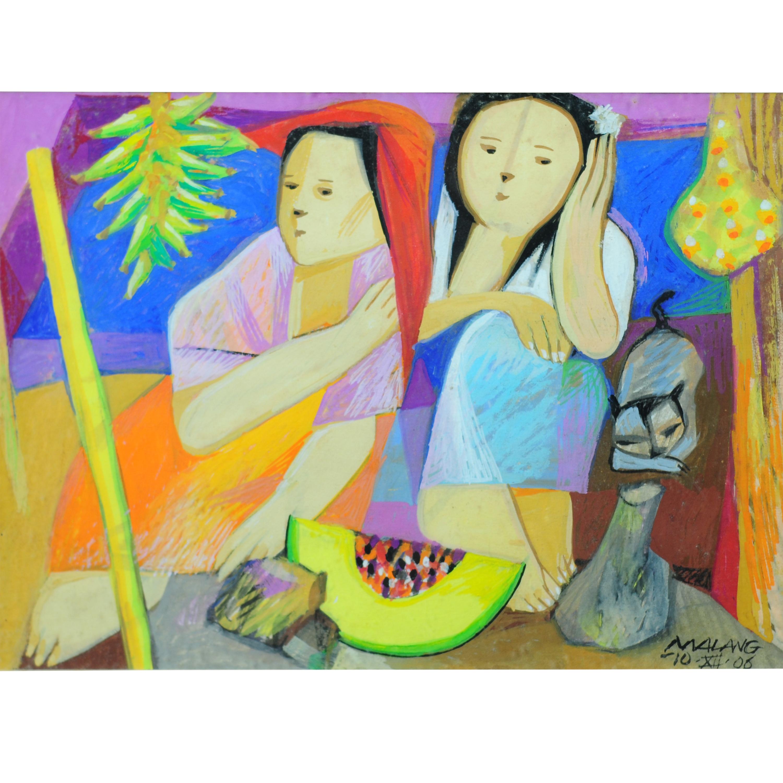 Mauro Malang Santos 1928 2017 Two Women